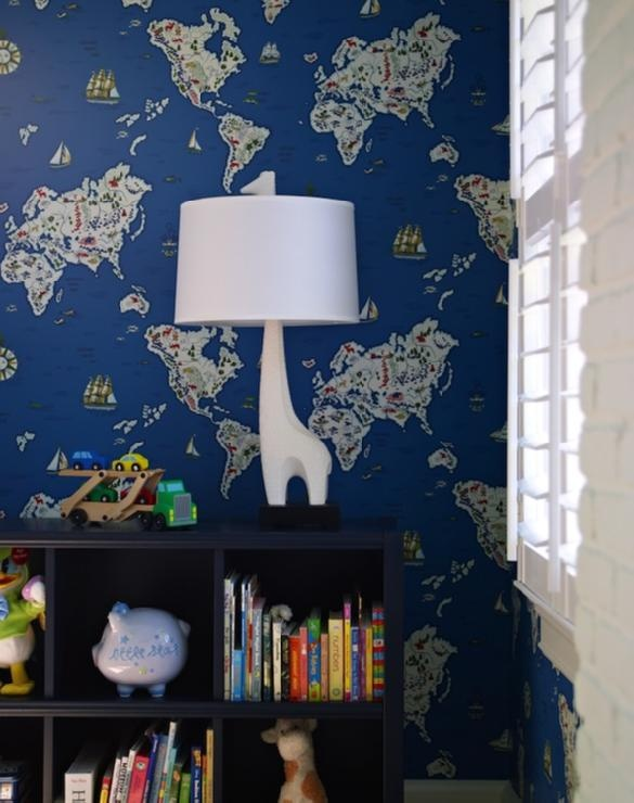 nurseries jonathan adler giraffe lamp ikea expedit bookcase blue. Black Bedroom Furniture Sets. Home Design Ideas