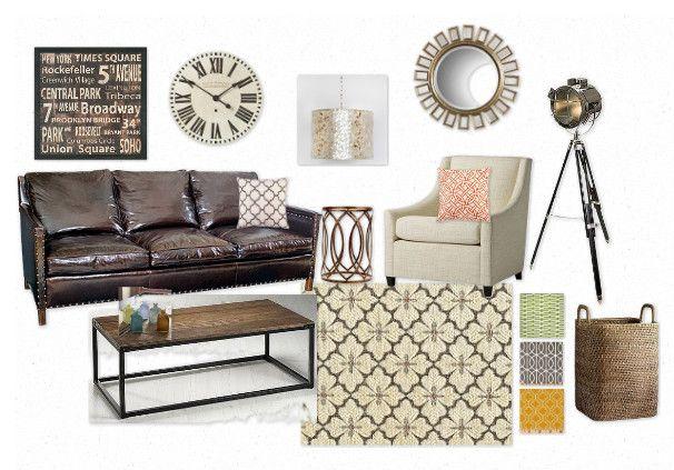 Rustic Modern Industrial Living Room Home Stuff Pinterest