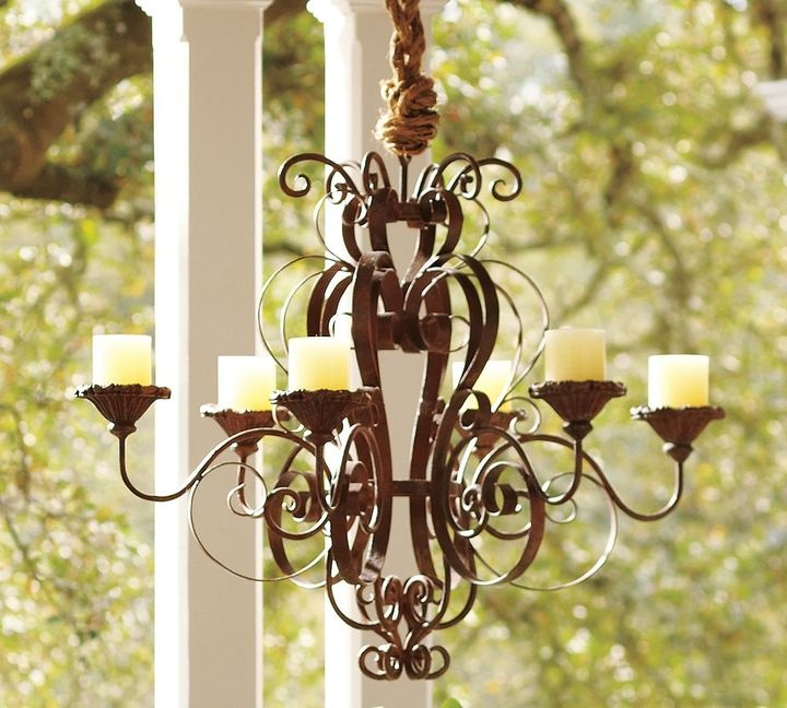 Wrought Iron Outdoor Chandelier Chandeliers Design – Outdoor Votive Candle Chandelier