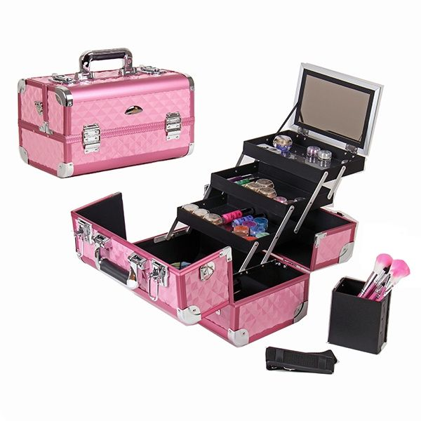 Pink Makeup Bo. Beauty Box Make Up Case Beauty Vanity Nail ...