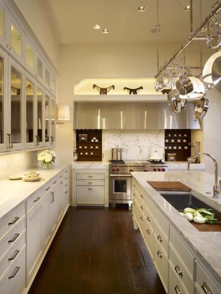 Cream cabinets and Calcutta gold marble