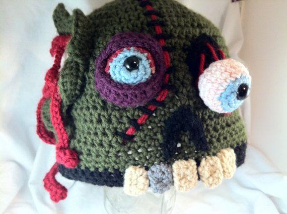 Crochet Zombie Patterns : CUSTOM Crochet Zombie Hat by LaurelAndHoney on Etsy