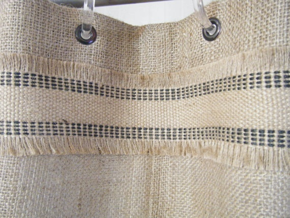 Burlap shower curtain 72 x 72 grommet top with by burlapcountry 59
