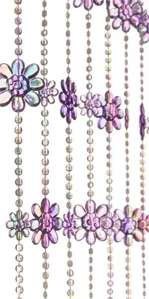 Purple iridescent bead curtain bead curtains pinterest - Purple beaded door curtains ...