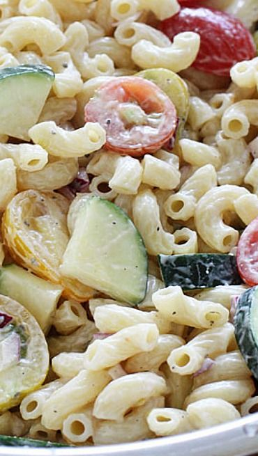 Summer Macaroni Salad with Tomatoes and Zucchini | Recipe