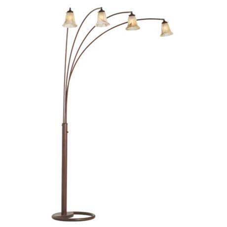 four arm marbleized glass arc floor lamp 30721 56452 lampsplus. Black Bedroom Furniture Sets. Home Design Ideas