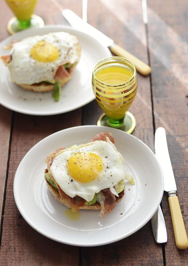 Fried Egg Open Face Breakfast Sandwich | || KIN EATS: Breakfast ...