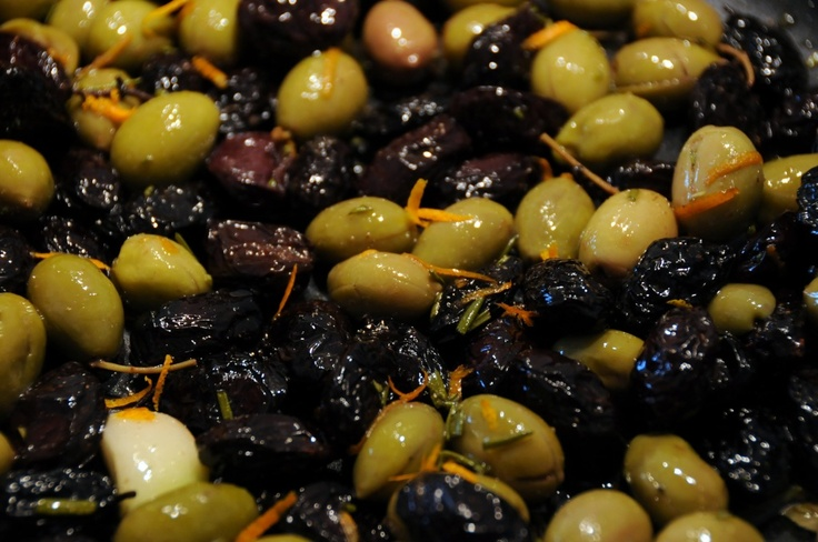 citrus marinated olives | Olives | Pinterest