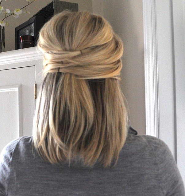 needing to find some new hair styles while I grow my hair back out...this is cute! Just did this and it looks great super easy