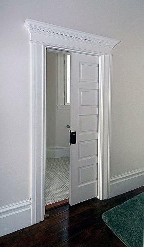 Pocket door space saver decor items ideas pinterest for Master bathroom pocket door