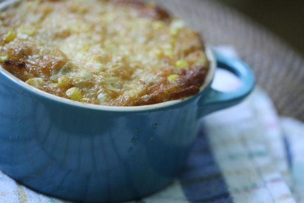 Southwestern artichoke dip with sweet corn and Cayenne