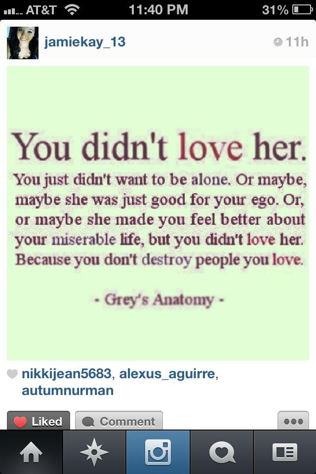 Love quote- greys anatomy