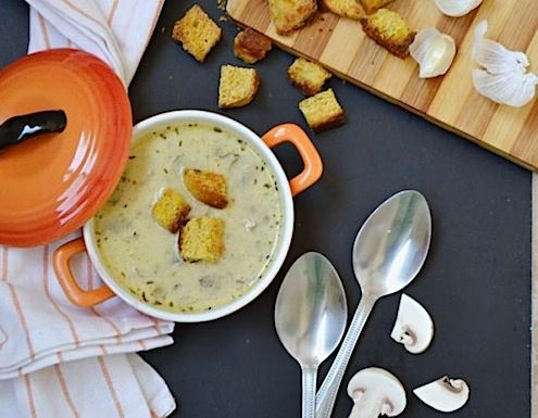 Making this garlic mushroom soup will saturate your home with ...