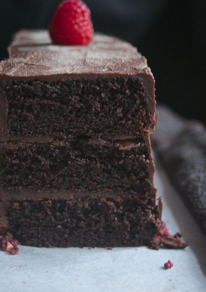 Chocolate raspberry layer cake   I Need Some Chocolate   Pinterest