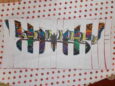 caterpillar to butterfly art
