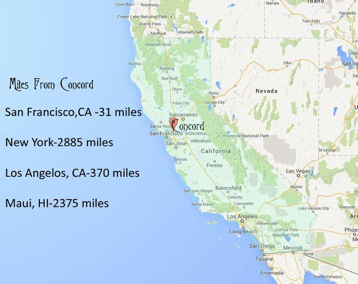 Concord CA map Concord California Pinterest