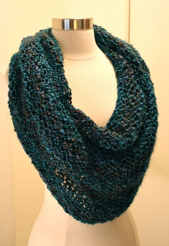Knitting Pattern Cowl Easy : New!! Quick, Easy and Luxurious Cowl Knitting Pattern Size 15 or 17 Circular ...