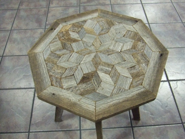 Quilt top barn wood table cool furniture pinterest