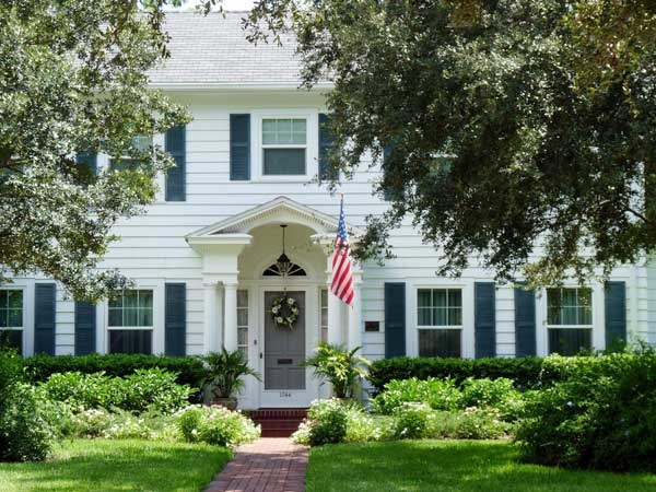 white house with green shutters houses pinterest