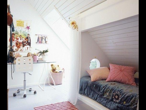 Kinderkamer Kinderkamer Klamboe : Kinderzolderkamer girls room ...