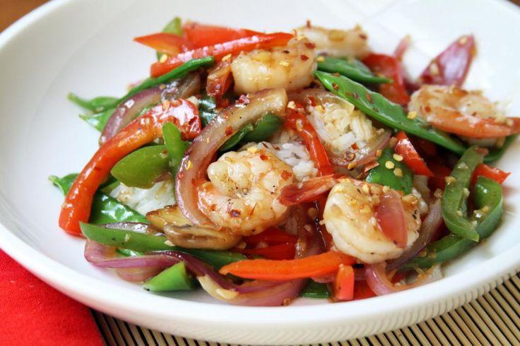 Easy Ginger Garlic Shrimp Stir-Fry | asian recipes | Pinterest