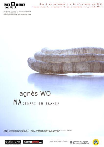 OFF JOYA - - LA XINA ART Agnés WO - MA Espai en blanc Horta de la bomba, 6 T 933 016 703  Apertura/Opening 06 Sept. - 19:30 Exposición/Exhibition 9 Sept. - 11 Oct.