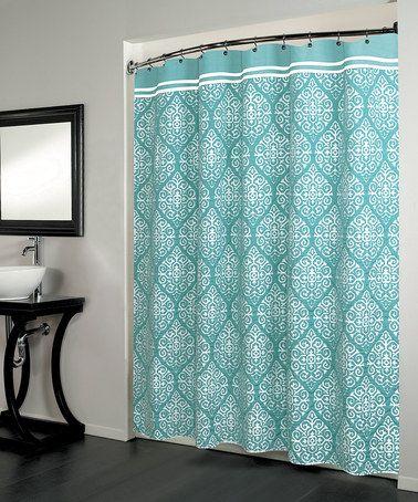 look at this zulilyfind aqua montrose shower curtain by beatrice