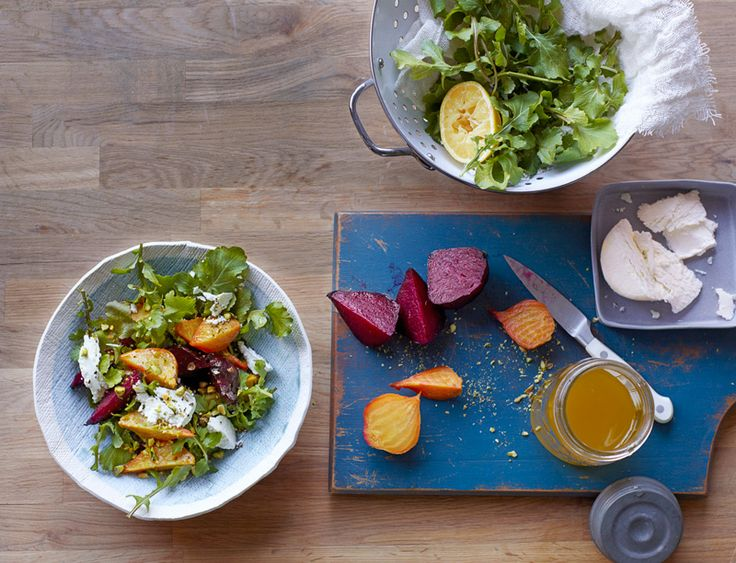 Roasted Beet Salad With Arugula, Pistachios, and Goat Cheese Recipe