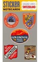 Switzerland Luggage Labels Sticker Notecard: with Envelope