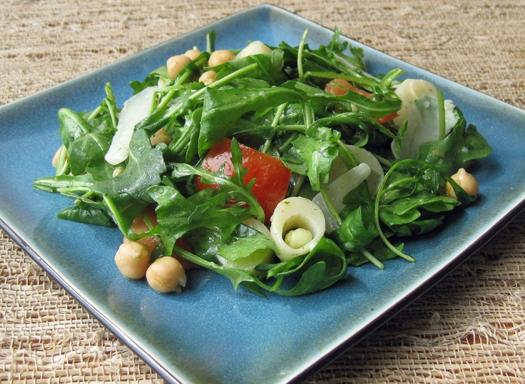 Salad with Shaved Manchego Cheese, Tossed in a Lemon-Mint Vinaigrette ...