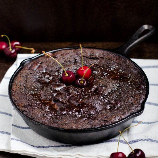 Chocolate Cherry Pudding Cake (GF) | Recipes I want to Try | Pinterest