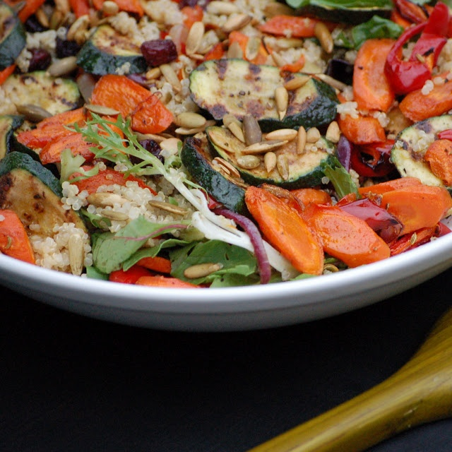 Vegan Roasted Veggie Pepita Salad | It's Not A Diet. It's a Lifestyle...