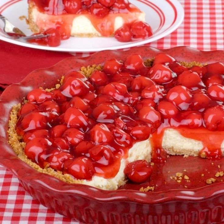 No Bake Cherry Cheesecake | Food & Drink | Pinterest