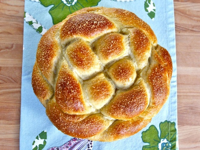 Round Apple Honey Challah - from The Shiksa in the Kitchen