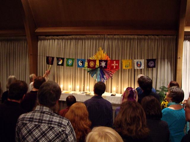 Interfaith worship ceremony. It's all good!