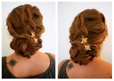 s curl hairstyle : Rustic Wedding Hairstyle--Tutorial--Finished Product