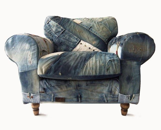 jeans chair unique unusual chairs pinterest. Black Bedroom Furniture Sets. Home Design Ideas
