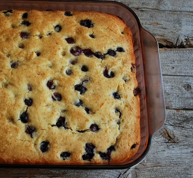Buttermilk Blueberry Breakfast Cake | Drool | Pinterest