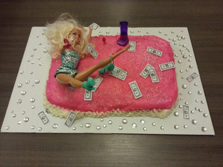 My Trashy Barbie Bachelorette Cake Party Planning Ideas Pinterest
