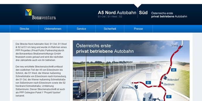 a5nordautobahnsued.at, by Sternwerk - die Internetagentur