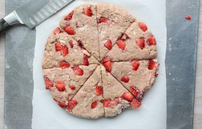 Whole Wheat Strawberry and Cream Scones | Recipe