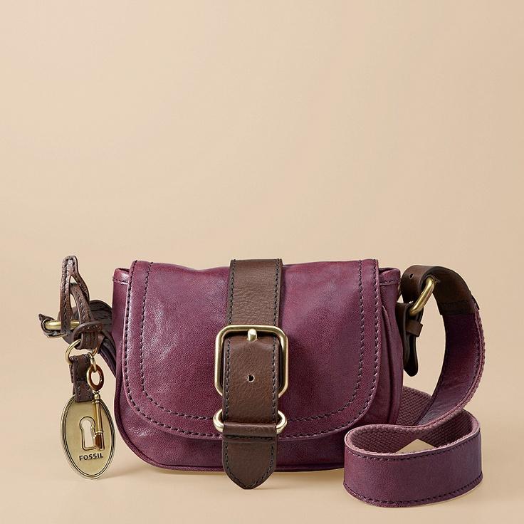 purple fossil purse.
