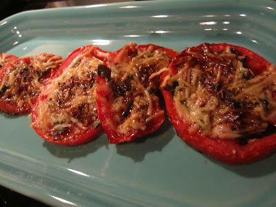 Roasted tomatoes with balsamic, parmesan,basil, and oregano
