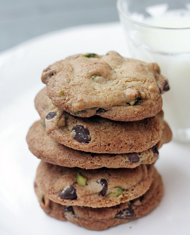 Chocolate Chip and Pistachio Cookies | sweet stuff | Pinterest