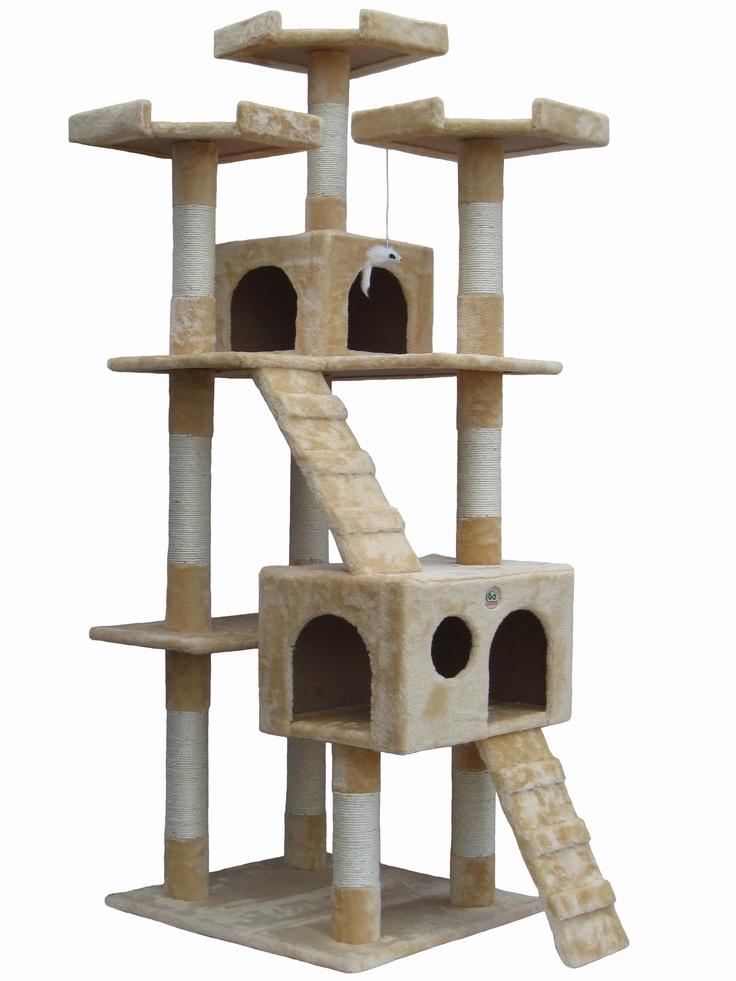 "Go Pet Club 72"" Cat Tree Condo House | Cat Tree Condo ..."