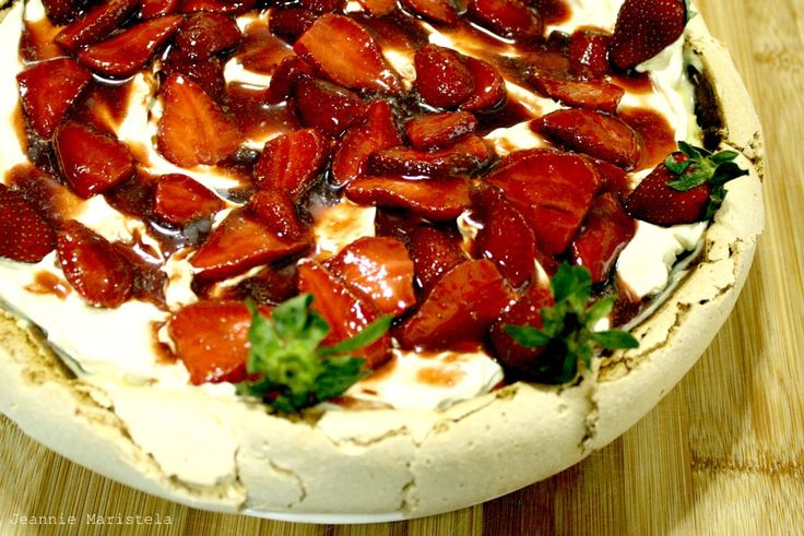 Pavlova with Whipped Lemon Curd, Cream and Balsamic Macerated ...