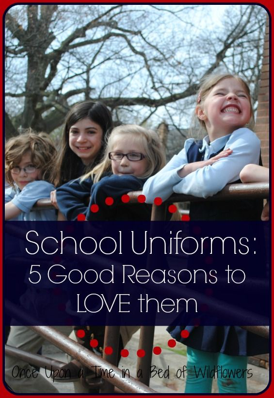 Good Reasons to LOVE School Uniforms // Once Upon a Time in a Bed of ...