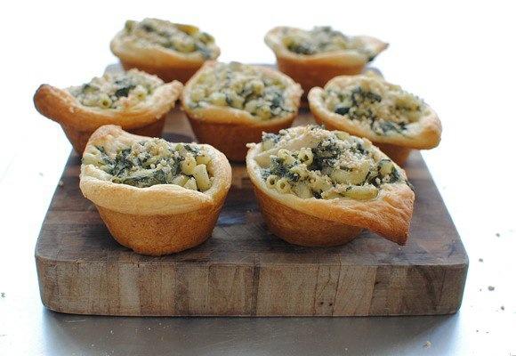 Spinach and Artichoke Mac 'n Cheese Cups | Recipe