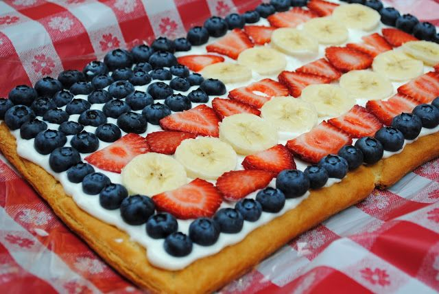 Southern Curls & Pearls: Fruit Flag Pizza