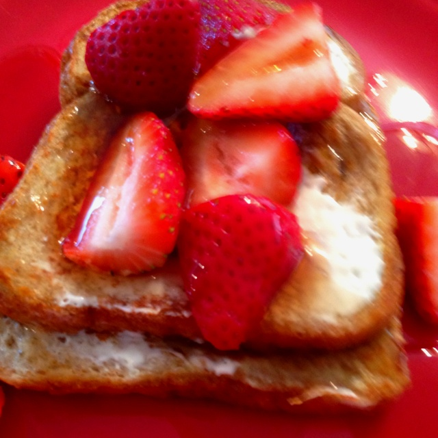 Strawberry cheesecake wheat French toast = delicious
